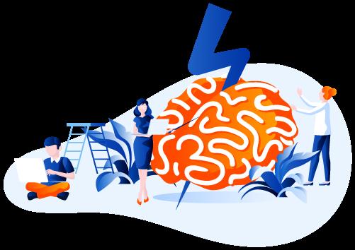 Symbol eines Gehirns